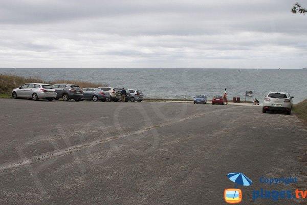 Parking de la plage de Saint Gilles à Bénodet