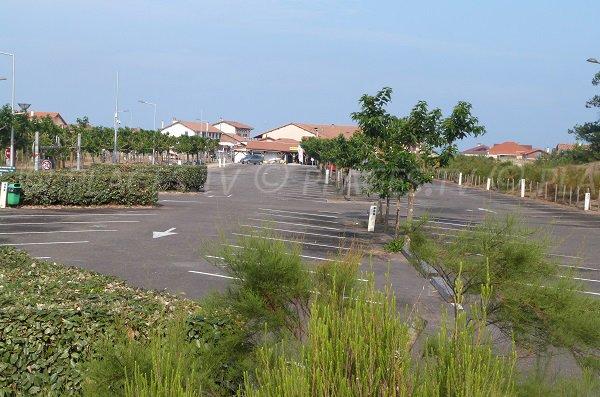 Free parking of Saint-Girons-Plage
