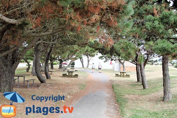 Aire de pique-nique sur la plage de St Guérin - Damgan