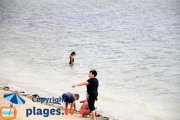 Plage de Saint Guérin à marée haute - Damgan