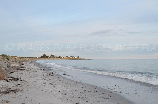 Plage de St Jacques de Sarzeau et plage de St Gildas de Rhuys