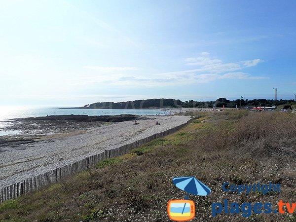 Côté gauche de la plage de Saint-Jacques - Sarzeau