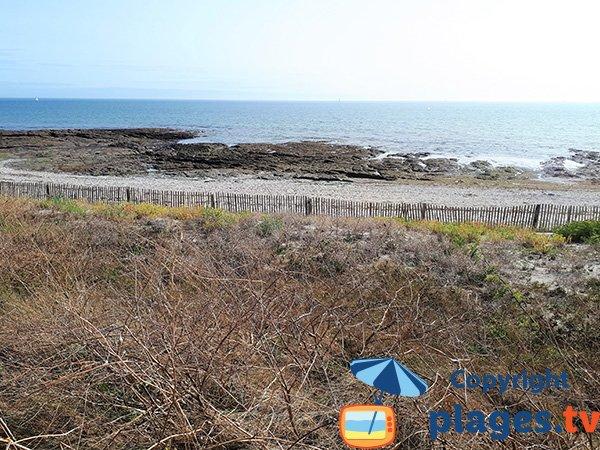 Rochers sur la plage de St Jacques de Sarzeau
