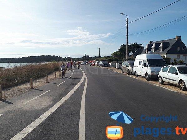 Route à proximité de la plage de St Jacques - Sarzeau