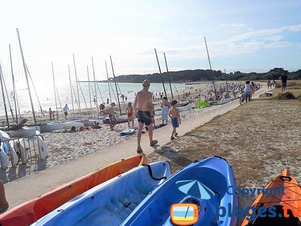 Photo de la plage de Saint Jacques à Sarzeau en été