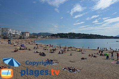 Saint Jean de Luz beach in France