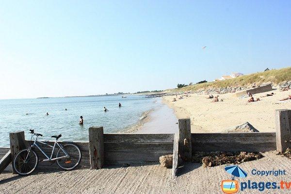 Photo de la plage de St Jean à Noirmoutier (l'Epine)