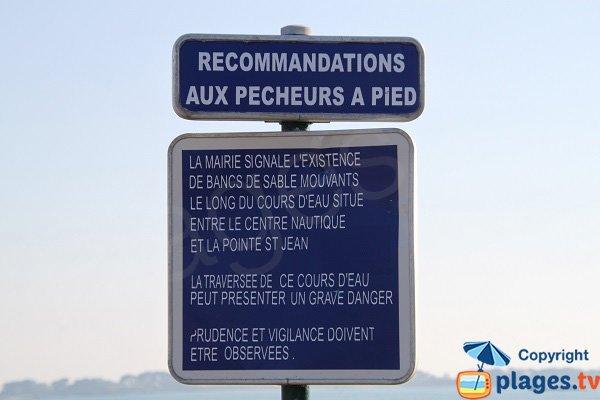 Danger plage de St Jean à St Pol de Léon