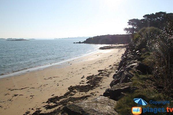 Photo de la plage de St Jean à St Pol de Léon