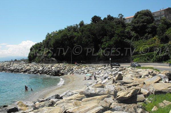 Spiaggia tra il Porto Vecchio di Bastia e Arinella