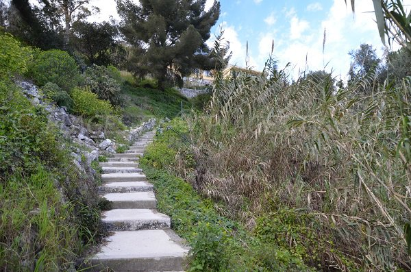 Access path to St Laurent d'Eze beach