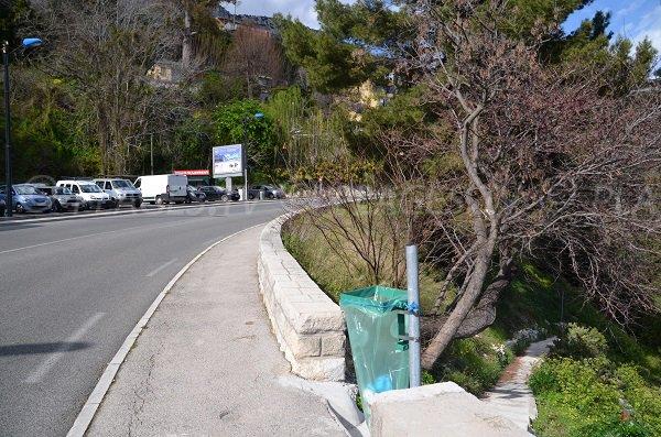 Access to St Laurent d'Eze beach