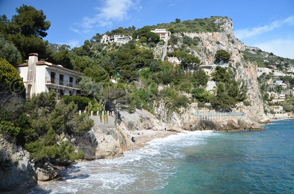 Photo of St Laurent beach in Eze in France