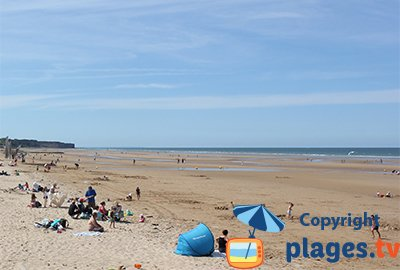 St Laurent sur Mer beaches in Normandy - France
