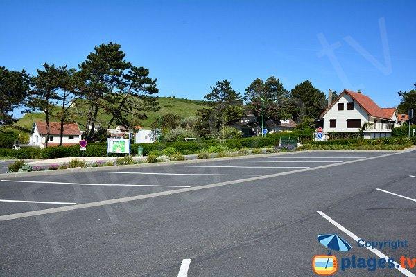 Parking de la plage de St Martin en Campagne