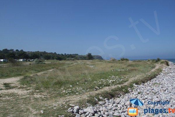 Prati intorno alla spiaggia di St Michel