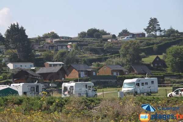 campsite near the Saint Michel beach in Erquy