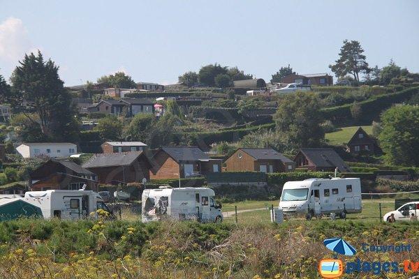 Camping pressi della spiaggia di Saint Michel a Erquy