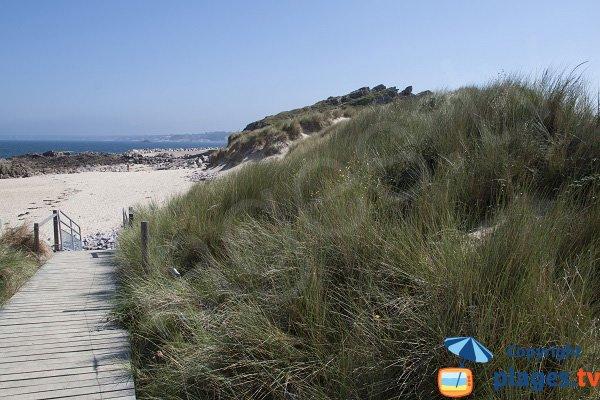 Percorsi di accesso alla spiaggia di St Michel