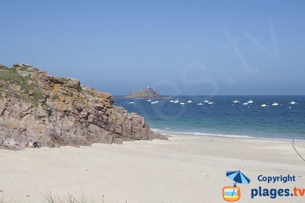 Fine della spiaggia di St Michel a Erquy
