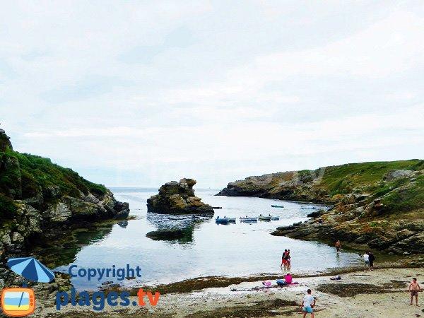 Mer peu agitée à l'ouest de l'ile de Groix