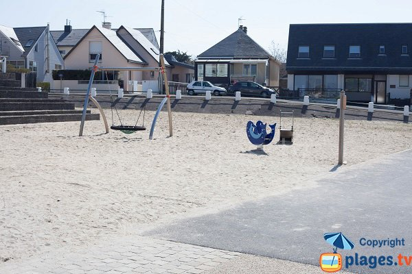 Playground area on the St Pair sur Mer beach