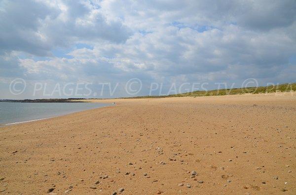 Photo de la plage de St Pierre à Locmariaquer (Morbihan)