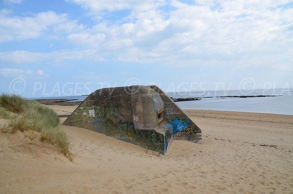 Blockhaus à l'entrée de la plage de St Pierre - Locmariaquer