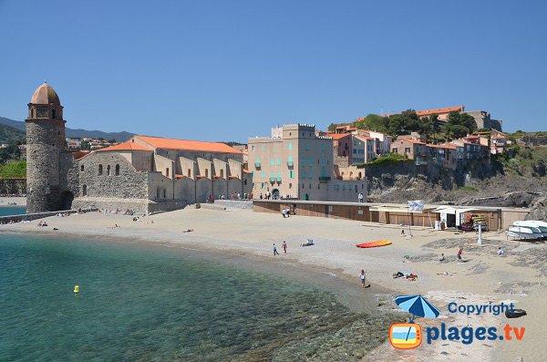 Plage privée Saint-Vincent de Collioure