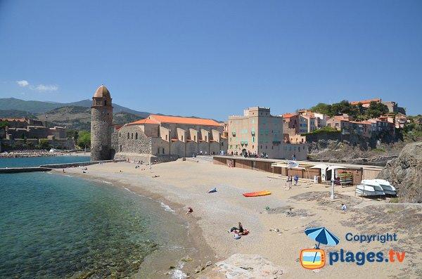 Spiaggia Saint Vincent a Collioure - Francia