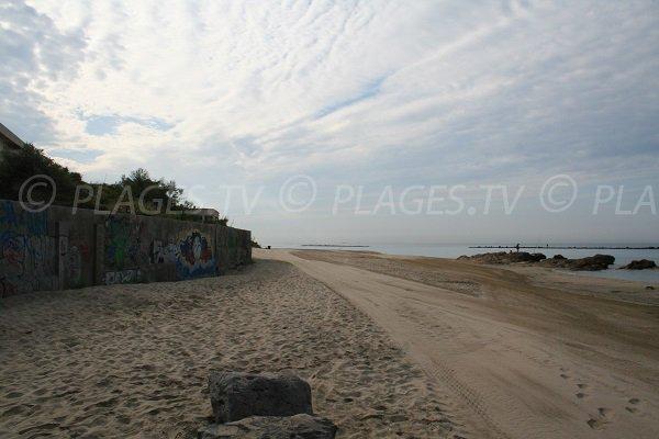 Saint Vincent beach towards Cap d'Agde
