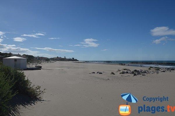 Photo de la plage de Saint Vincent au Grau d'Agde