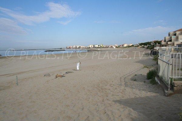 Saint Vincent beach in Grau d'Agde in France
