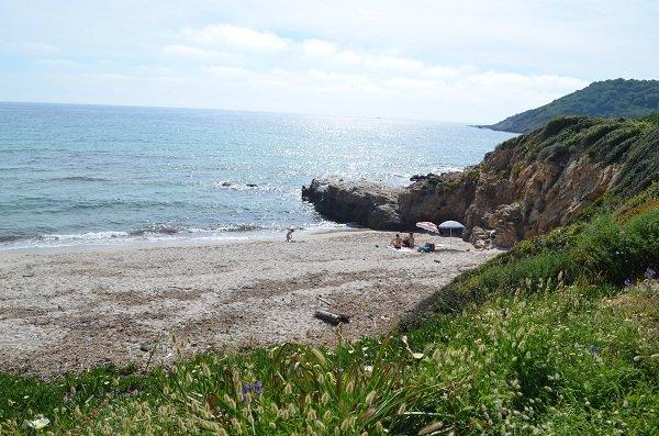Rocks of Stagnoli beach in Corsica