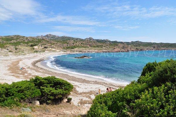 Stagnolu beach in Bonifacio in Corsica