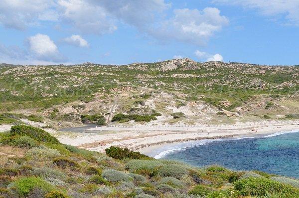 Etang et dunes de la plage de Stagnolu de Bonifacio