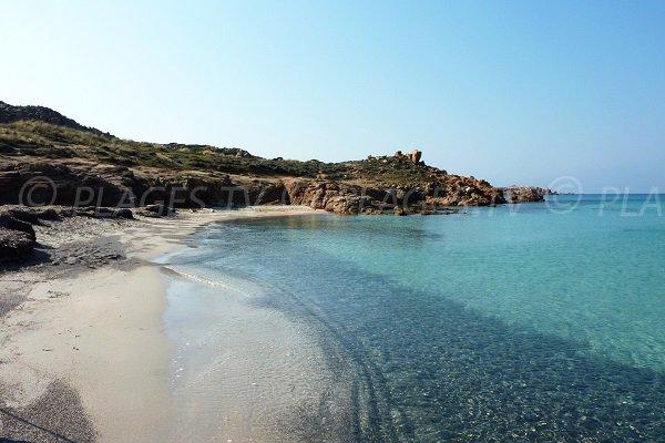 Parte sud spiaggia Bonifacio