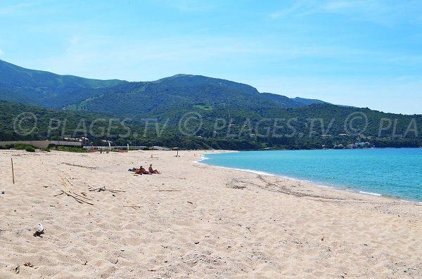 Stagnone beach in Corsica