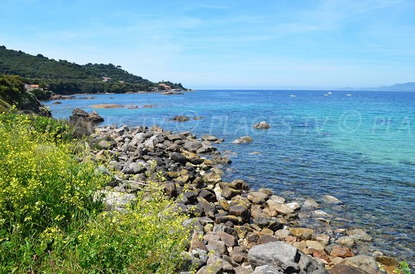 Rocks on south of Stagnone beach - Corsica