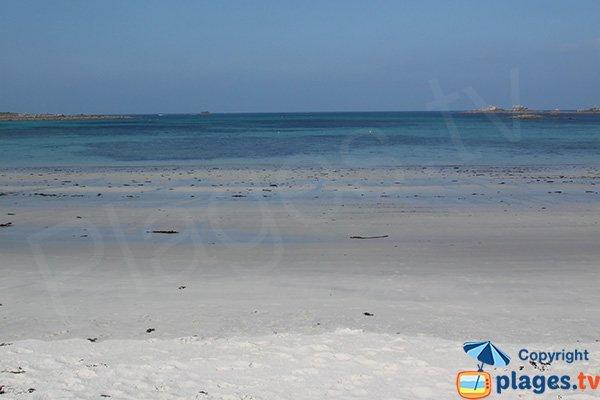 White sand beach in Santec