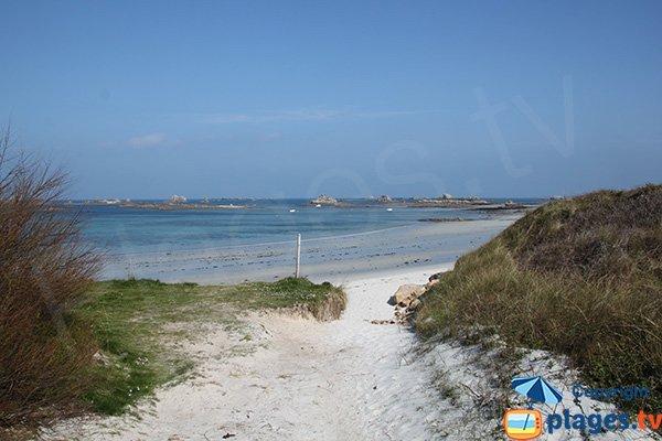 Accès secondaire de la plage du Staol - Santec