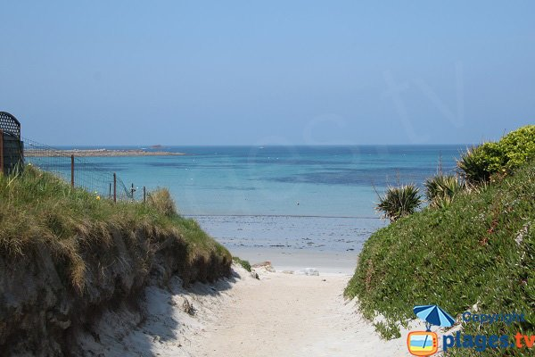 Staol beach in Santec in Brittany