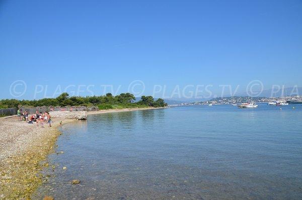 Plage de galets sur les Iles de Lérins - Ste Marguerite