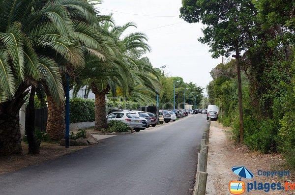 Parking of Sainte Barbe beach - Isolella in Corsica