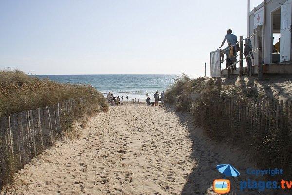Access to Sainte Barbe beach - Plouharnel