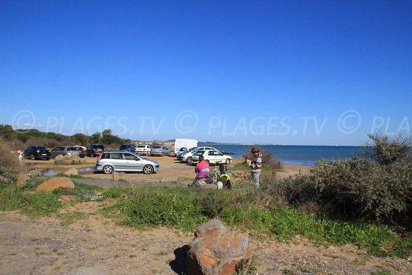 Parking de la plage de Ste Genevieve à Vias