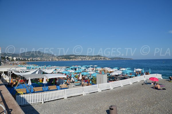 Private beach in Nice West