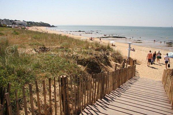 Accès droit de la plage de Ste Marguerite