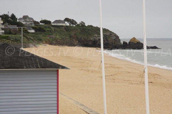 Vista della punta della Lande dalla spiaggia di Ste Marguerite