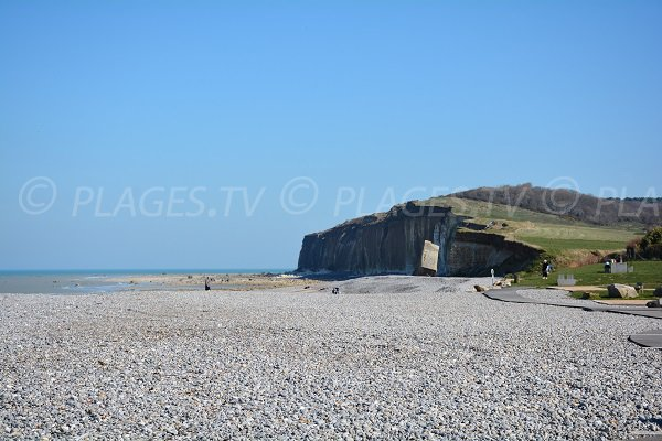 Sainte Marguerite beach in Normandy near cliffs